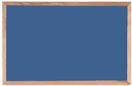 "Aarco Products OS2436 Porcelain on Steel Chalkboard with Oak Frame (Choice of Colors), 36""W x 24""H"