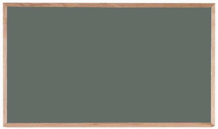 """Aarco Products OS3660 Porcelain on Steel Chalkboard with Oak Frame (Choice of Colors), 36""""H x 60""""W"""