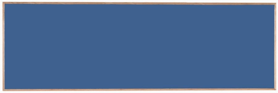 "Aarco Products OS48144 Porcelain on Steel Chalkboard with Oak Frame (Choice of Colors), 48""H x 144""W"