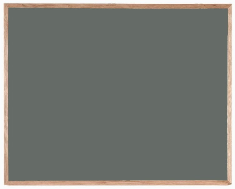 """Aarco Products OS4860 Porcelain on Steel Chalkboard with Oak Frame (Choice of Colors), 48""""H x 60""""W"""