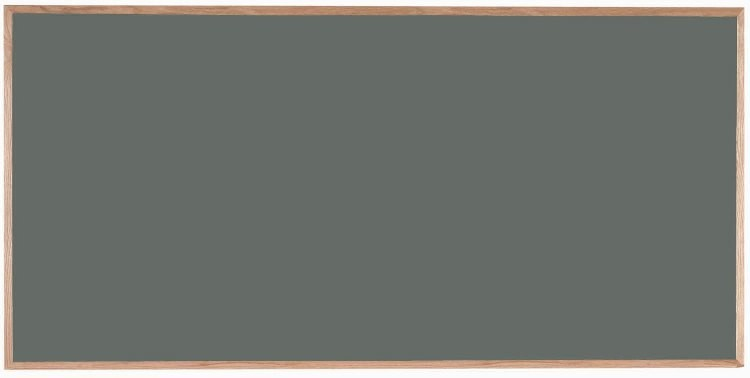 "Aarco Products OS4896 Porcelain on Steel Chalkboard with Oak Frame (Choice of Colors), 48""H x 96""W"
