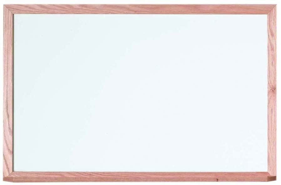 "Aarco Products WOS2436 Oak Frame Porcelain Magnetic Marker board, 36""W x 24""H"