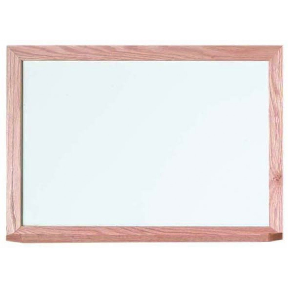 """Aarco Products WOS1824 Oak Frame Porcelain Magnetic Markerboard, 18""""H x 24""""W"""