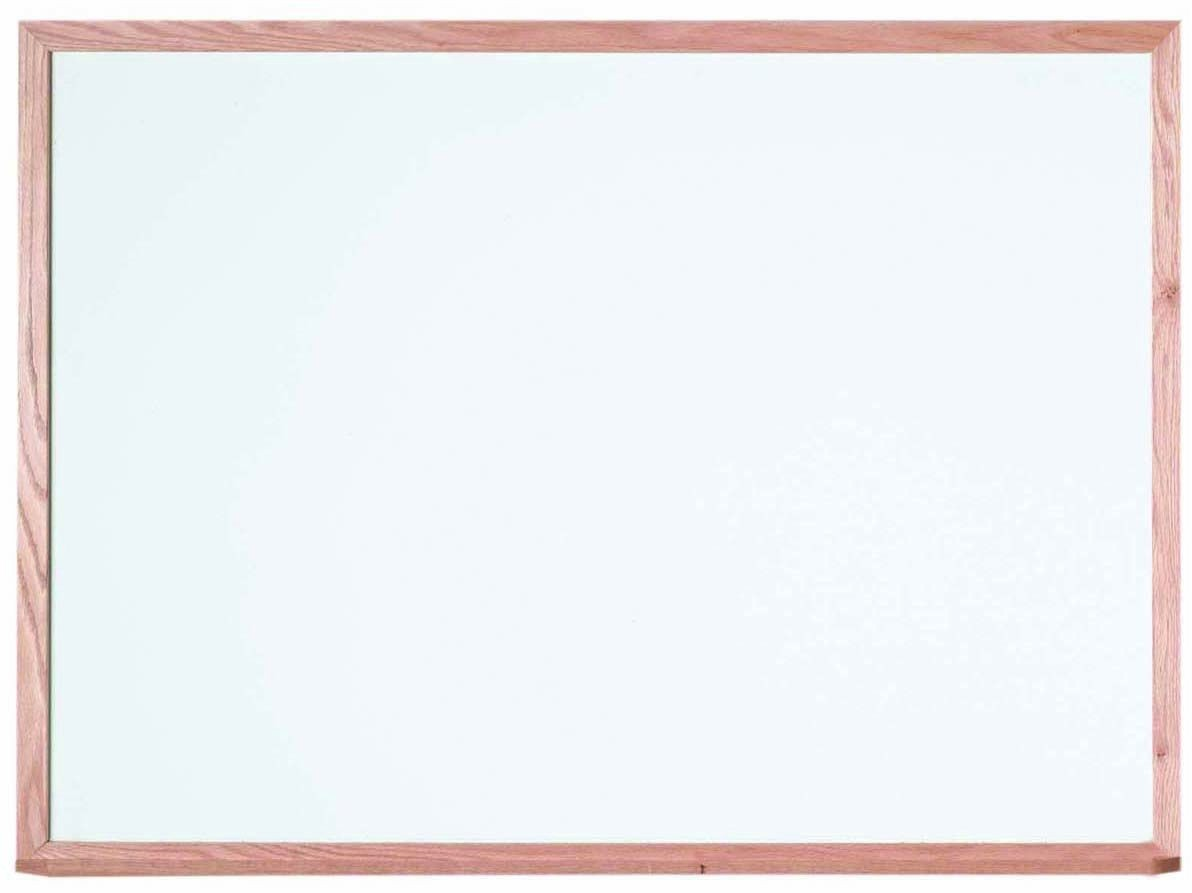 "Aarco Products WOS3648 Oak Frame Porcelain Markerboard, 36""H x 48""W"