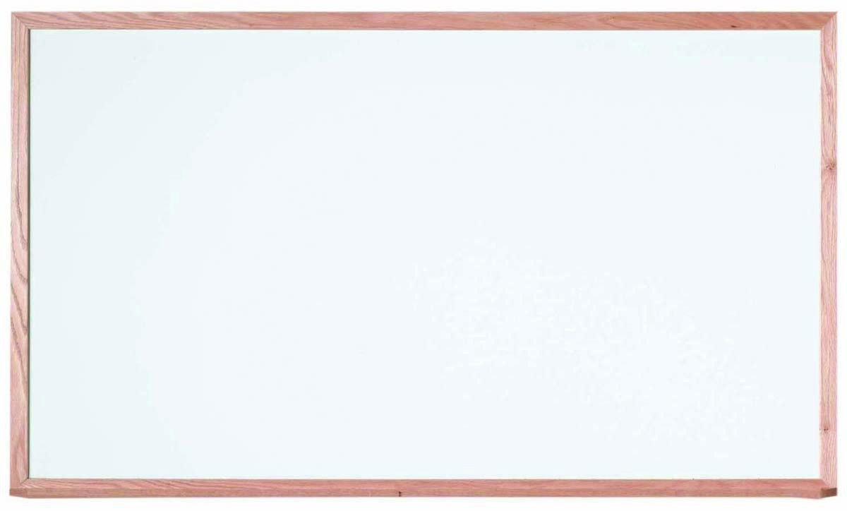 """Aarco Products WOS3660 Oak Frame Porcelain Markerboard, 36""""H x 60""""W"""