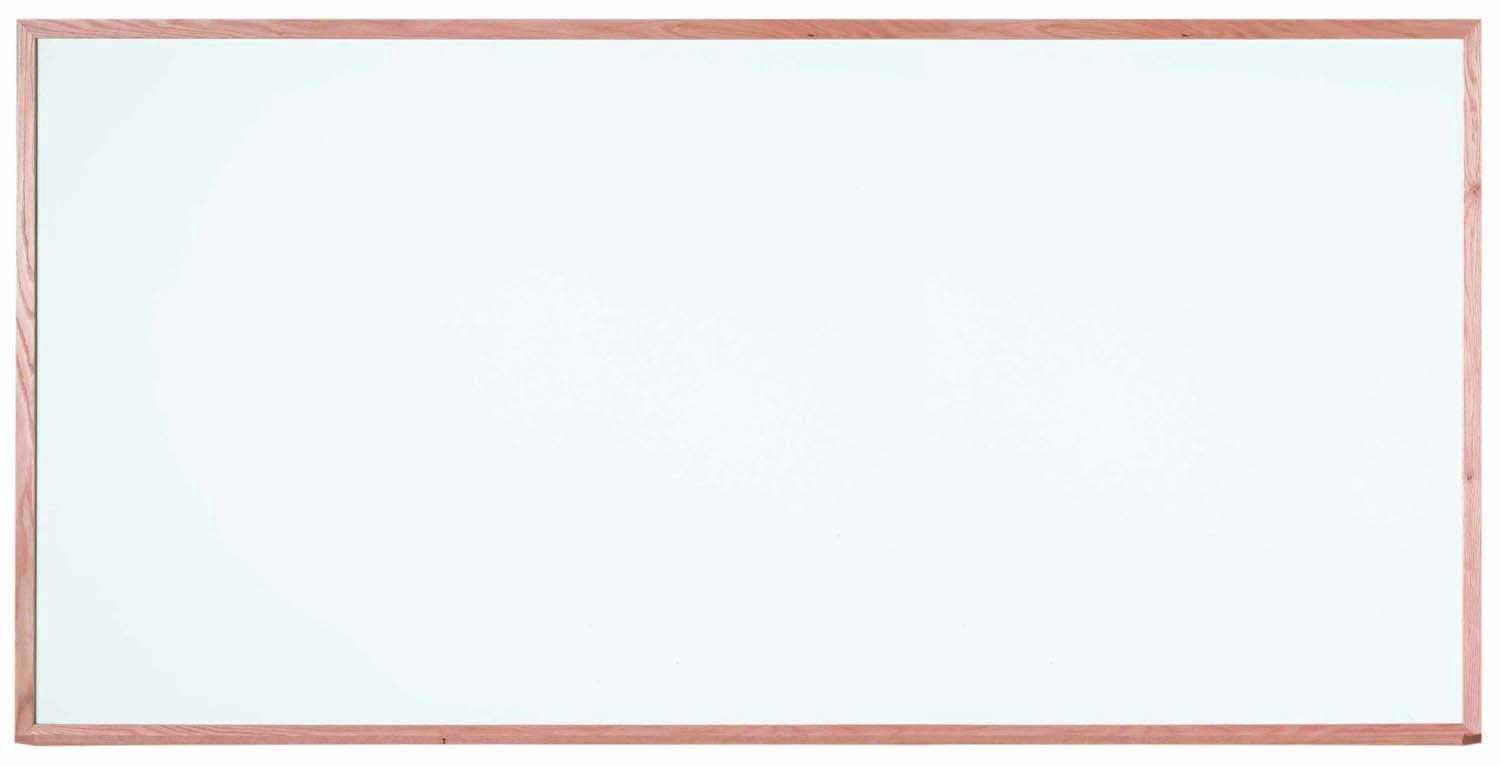"""Aarco Products WOS4896 Oak Frame Porcelain Markerboard, 48""""H x 96""""W"""