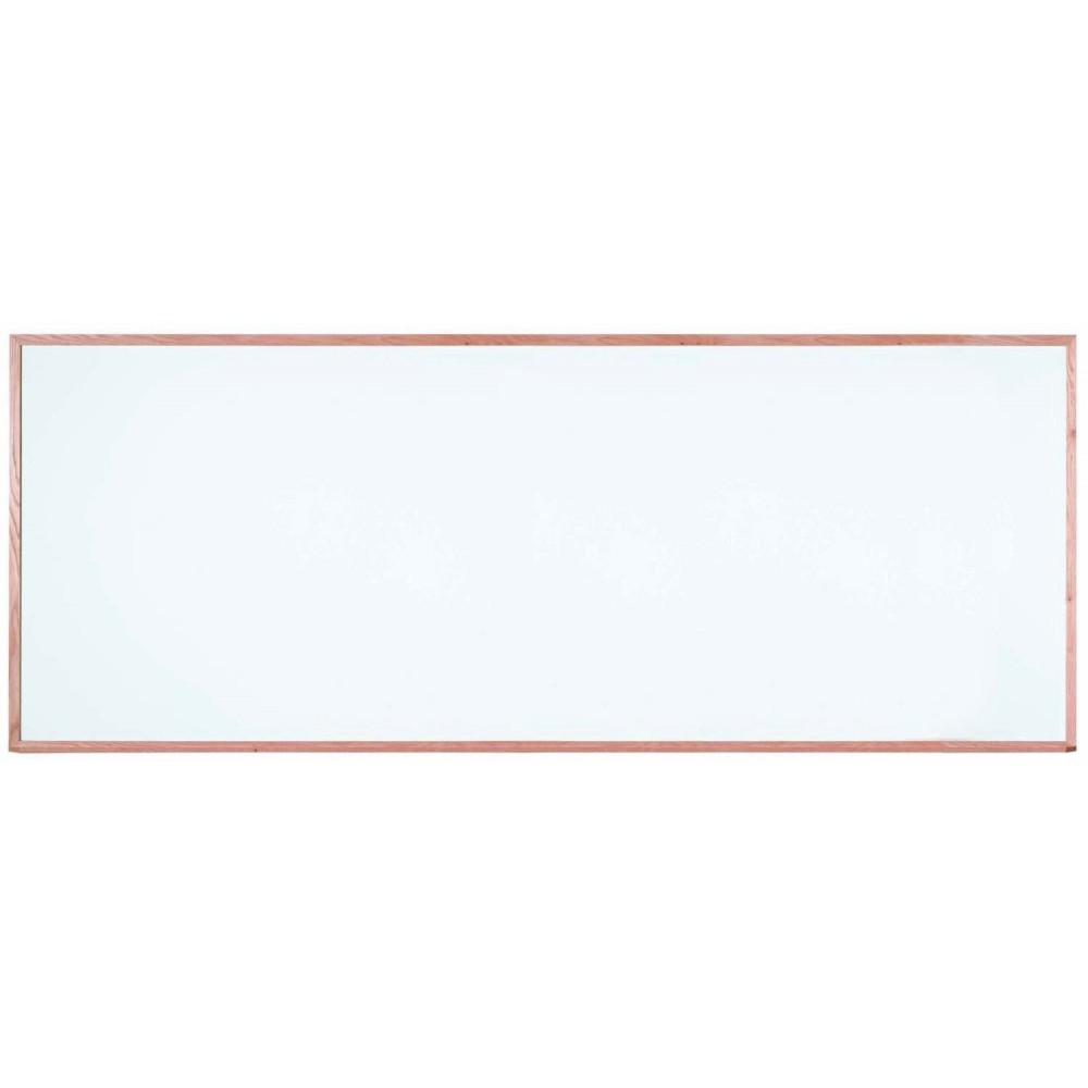 """Aarco Products WOS48120 Oak Frame Porcelain Markerboard, 48""""H x 120""""W"""