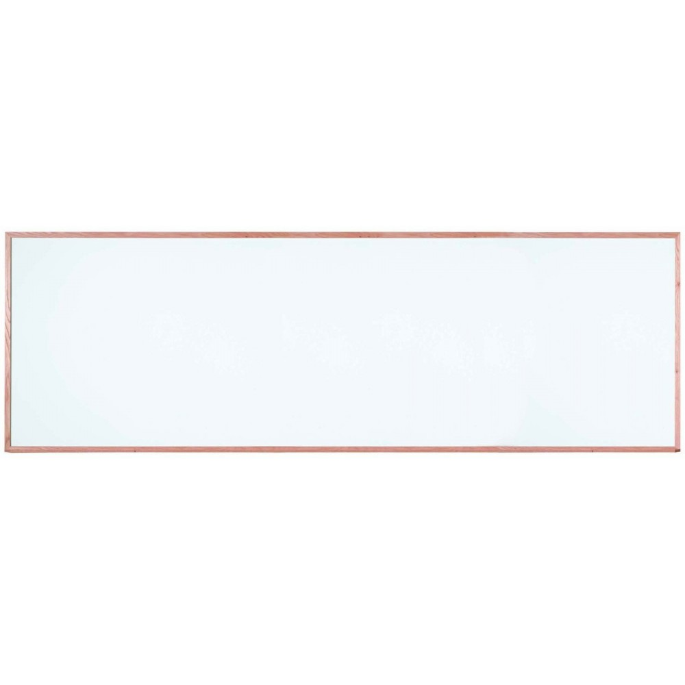 "Aarco Products WOS48144 Oak Frame Porcelain Markerboard, 48""H x 144""W"