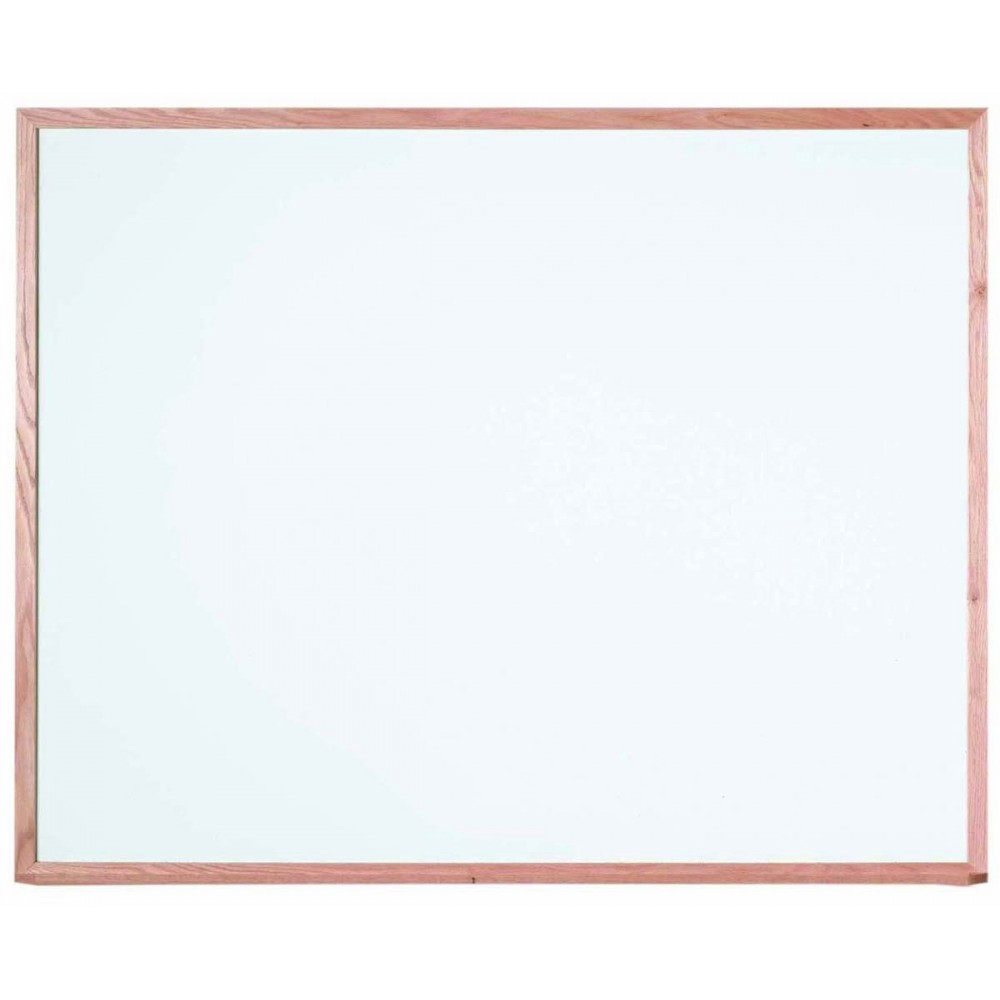 "Aarco Products WOS4860 Oak Frame Porcelain Markerboard, 48""H x 60""W"