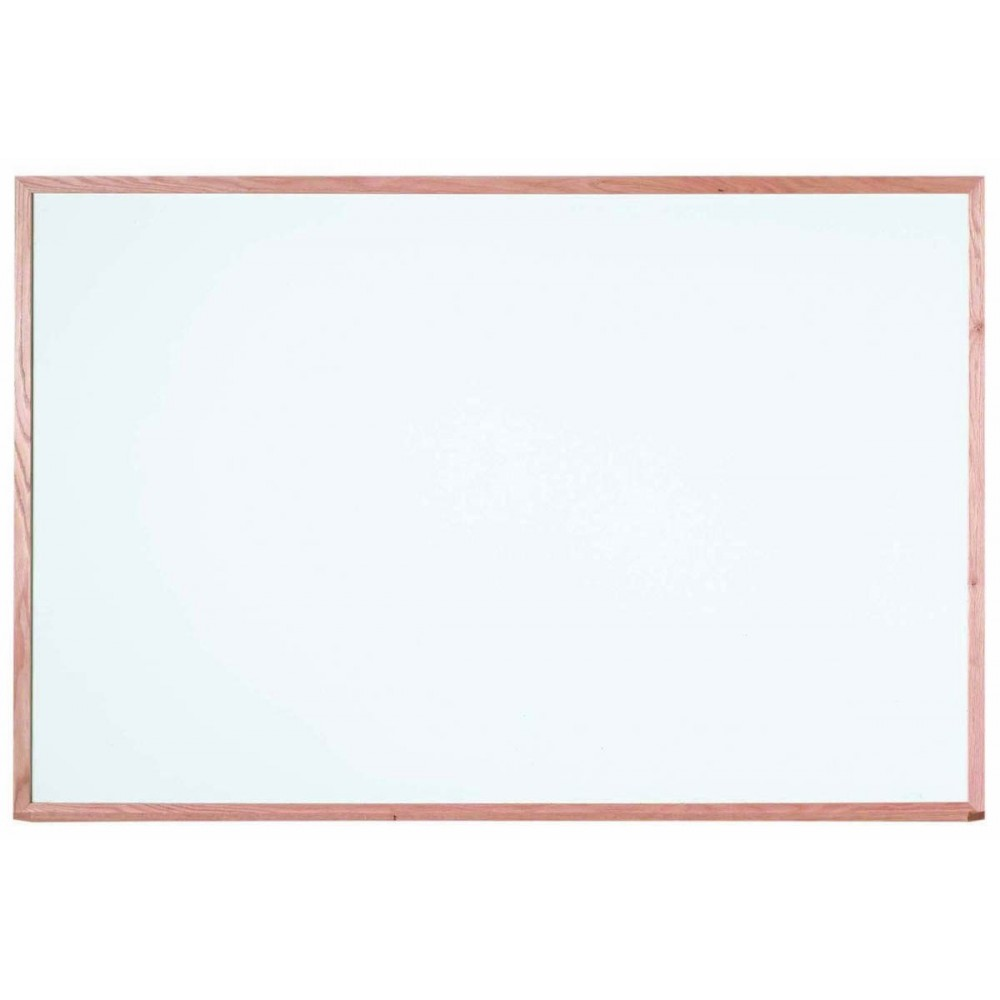 "Aarco Products WOS4872 Oak Frame Porcelain Markerboard, 48""H x 72""W"