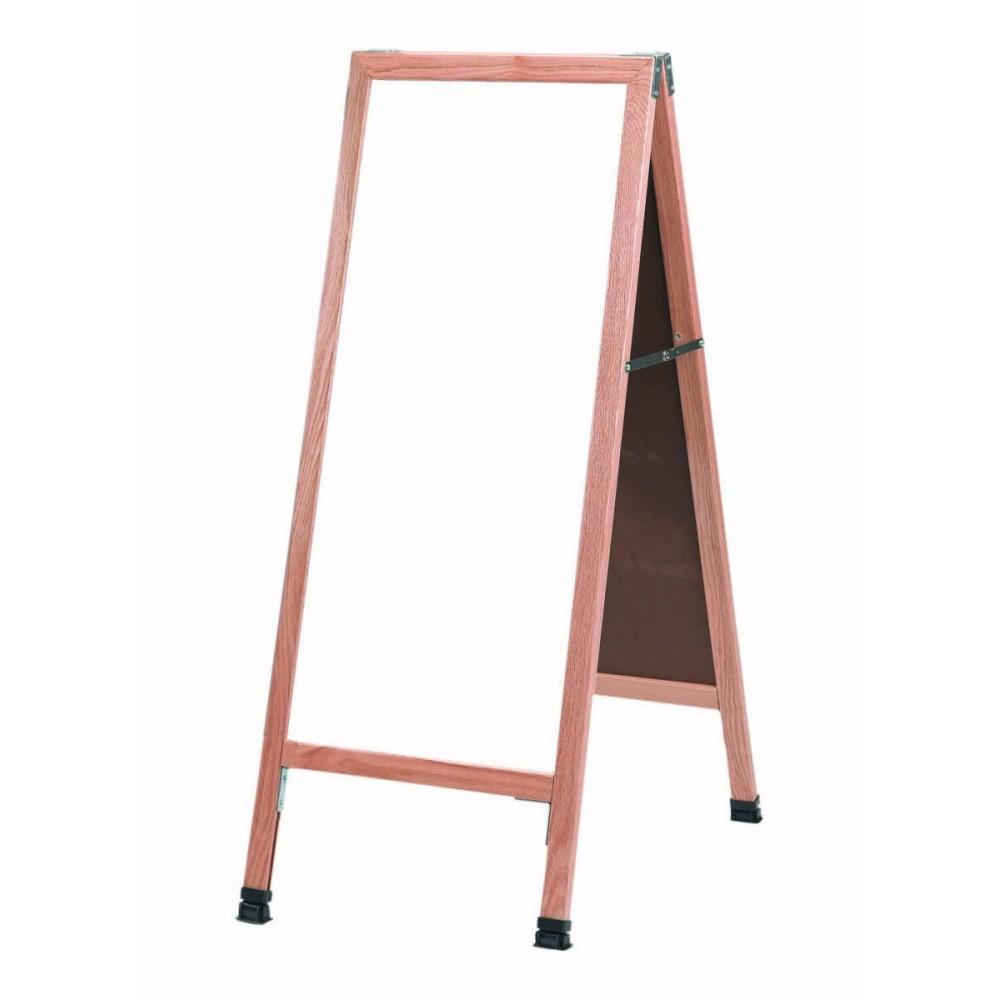 Oak Frame White Markerboard A-Frame Sidewalk Board 18