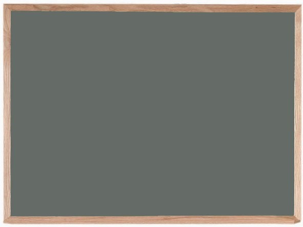 "Aarco Products OS3648 Porcelain on Steel Chalkboard with Oak Frame (Choice of Colors), 36""H x 48""W"