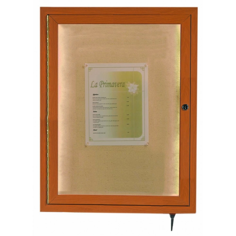 Oak Indoor/Outdoor Menu Display Case 24
