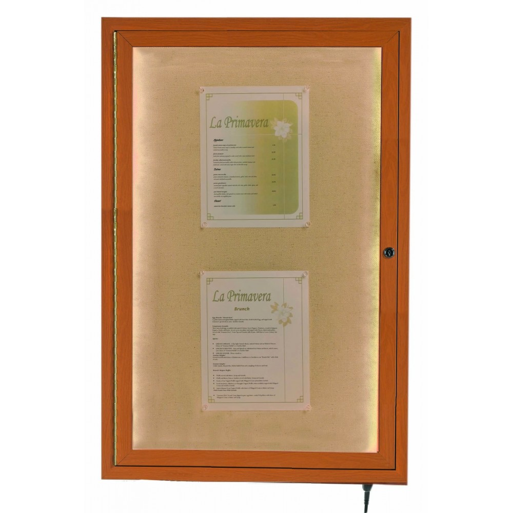 "Aarco Products LWL3624O Oak Indoor/Outdoor Menu Display Case 36""H x 24""W"