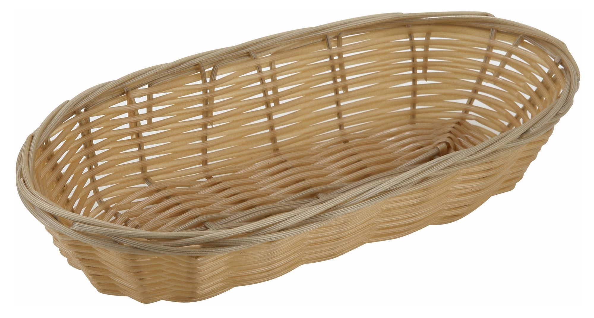 "Winco pwbn-9b Oblong Natural Woven Basket 9"" x 4-1/4"" x 2"""