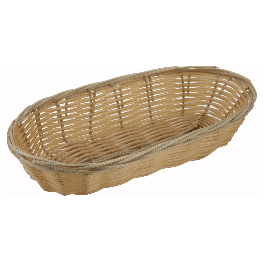 Oblong Poly Natural Woven Basket