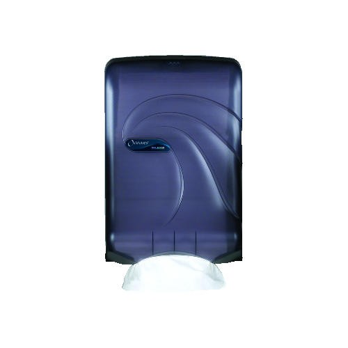 Oceans Slimmer C-Fold & M-Fold Hand Towel Dispenser, Translucent Black