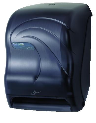 San Jamar Oceans Smart System with iQ Sensor Towel Dispenser, Black Pearl