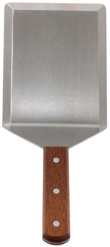 "Winco TN56 Offset Turner, 5"" x 6"" with Wooden Handle"