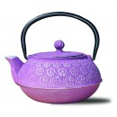 Old Dutch International 1032PM Plum Cast Iron Cherry Blossom Teapot, 22 oz.