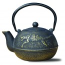 Old Dutch International 1034MB Matte Black Cast Iron Tora Teapot, 22 oz.