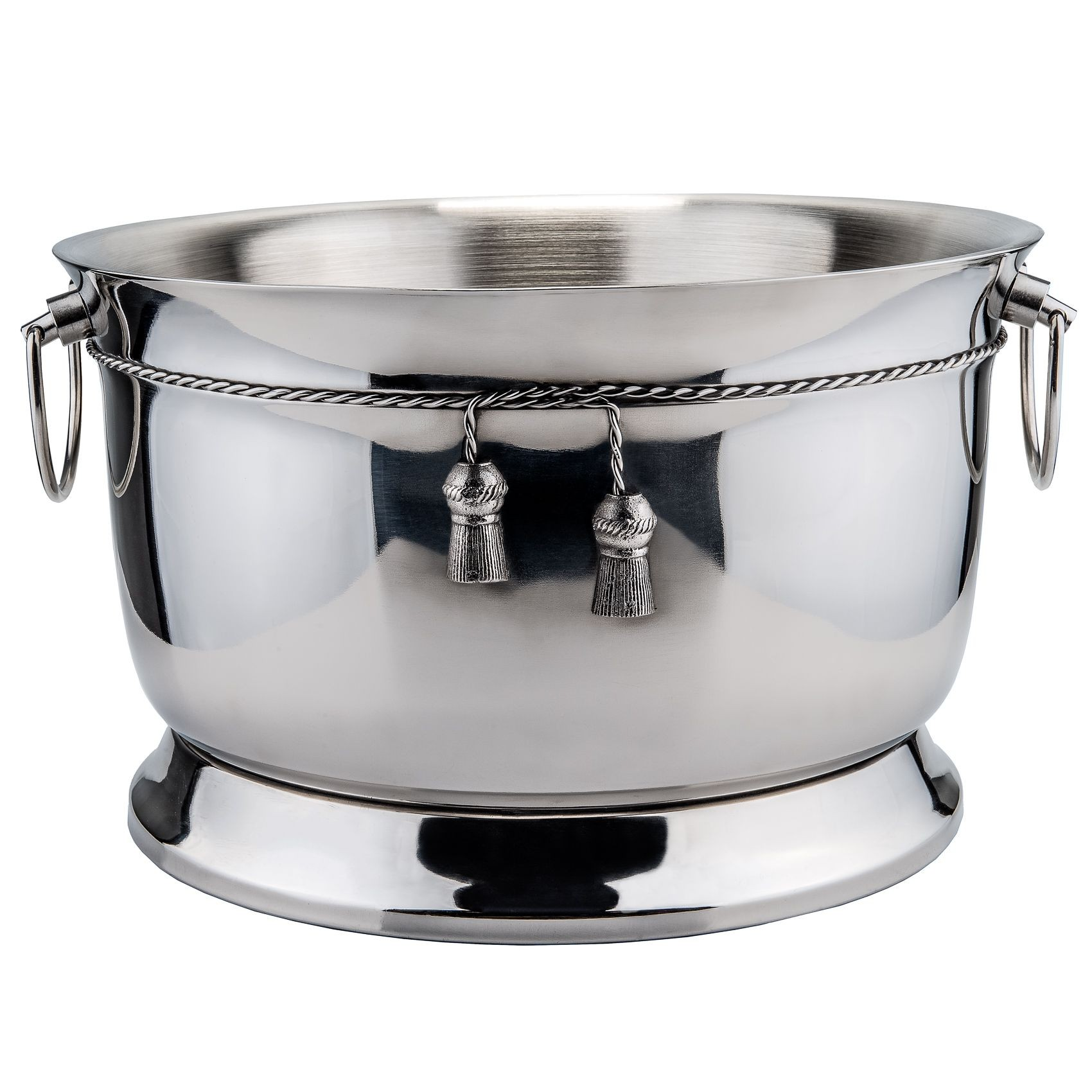 Old Dutch International 1109 Stainless Steel Double-Walled Party Tub with Tie Knot, 3 3/4 Gallon