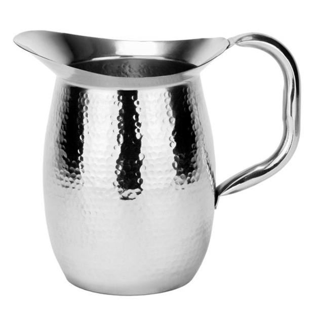 Old Dutch International 11820 Double-Walled Hammered Stainless Steel Water Pitcher, 2 Qt.