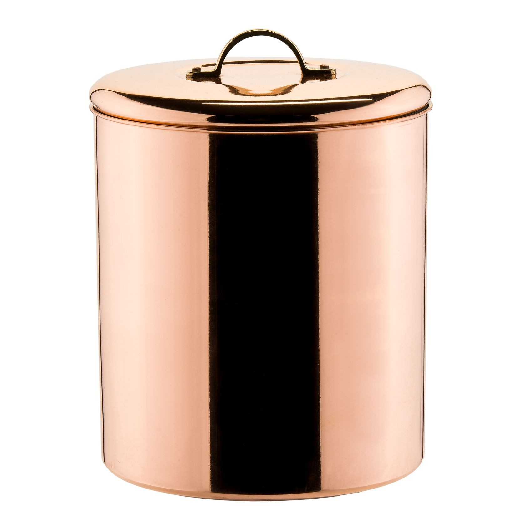 Old Dutch International 1244 Polished Copper Cookie Jar with Fresh Seal Cover, 4 Qt.