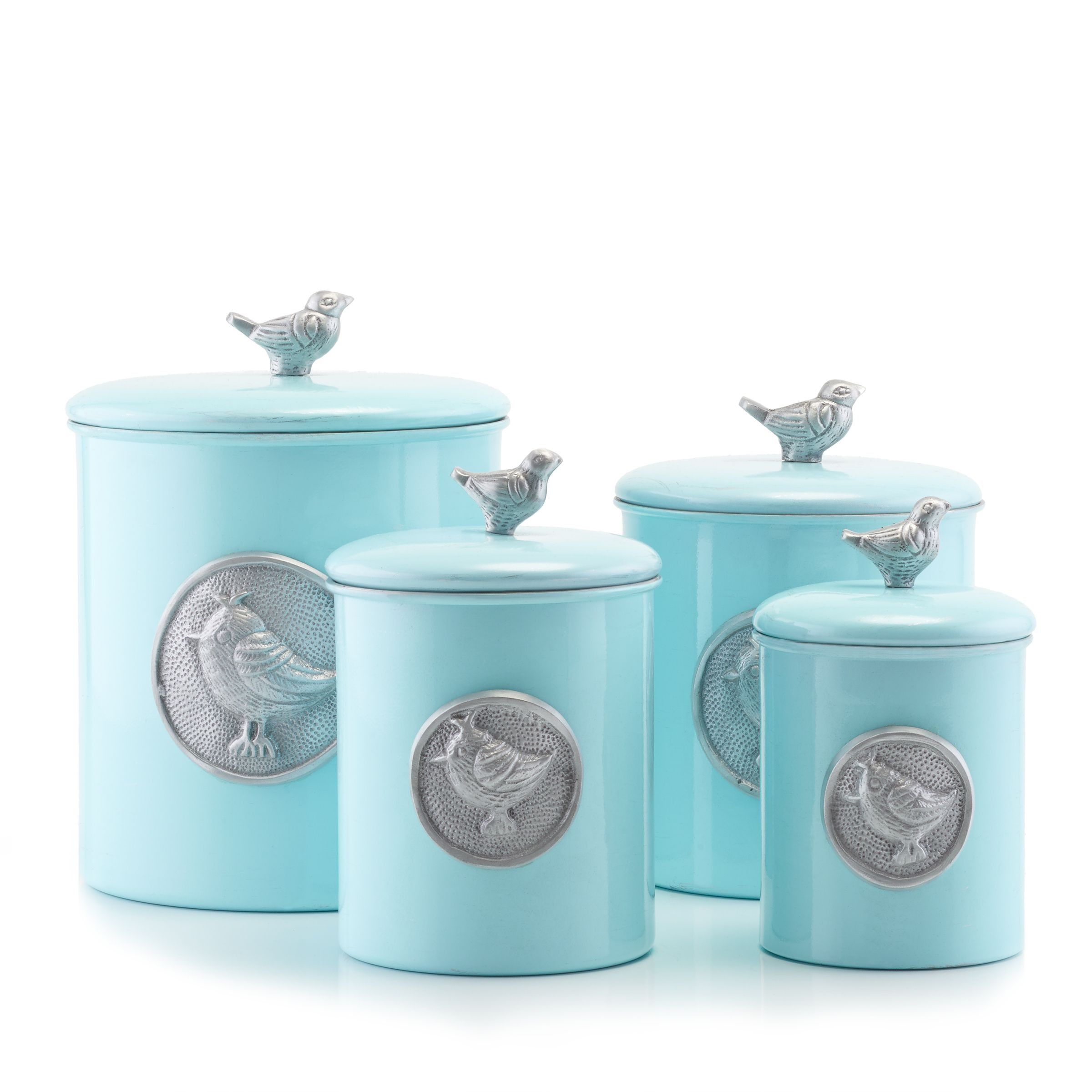 Stainless Wood Kitchen Canisters
