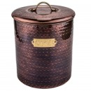 Old Dutch International 1844 Hammered Antique Copper Cookie Jar with Fresh Seal Cover, 4 Qt.