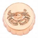 "Old Dutch International 1959 Solid Copper Crab Mold, 7 3/4"" Dia."