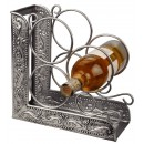 "Old Dutch International 431 Antique Embossed Victoria 3-Bottle Wine Rack Bookend, 10 1/4"" x 4 3/4"" x 10 1/4"""