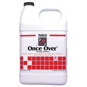 Once Over Floor Stripper, Mint Scent, Liquid, 1 gal. Bottle