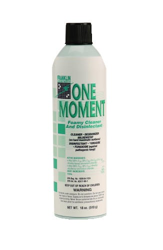 One Moment Foamy Cleaner and Disinfectant, Citrus Scent, 18 oz. Aerosol Can