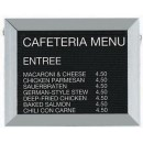 """Aarco Products BOFD1218L Framed Letter Board Message Center with Aluminum Frame, 18""""W x 12""""H"""