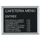 """Aarco Products BOFD1824L Framed Letter Board Message Center with Aluminum Frame, 24""""W x 18""""H"""