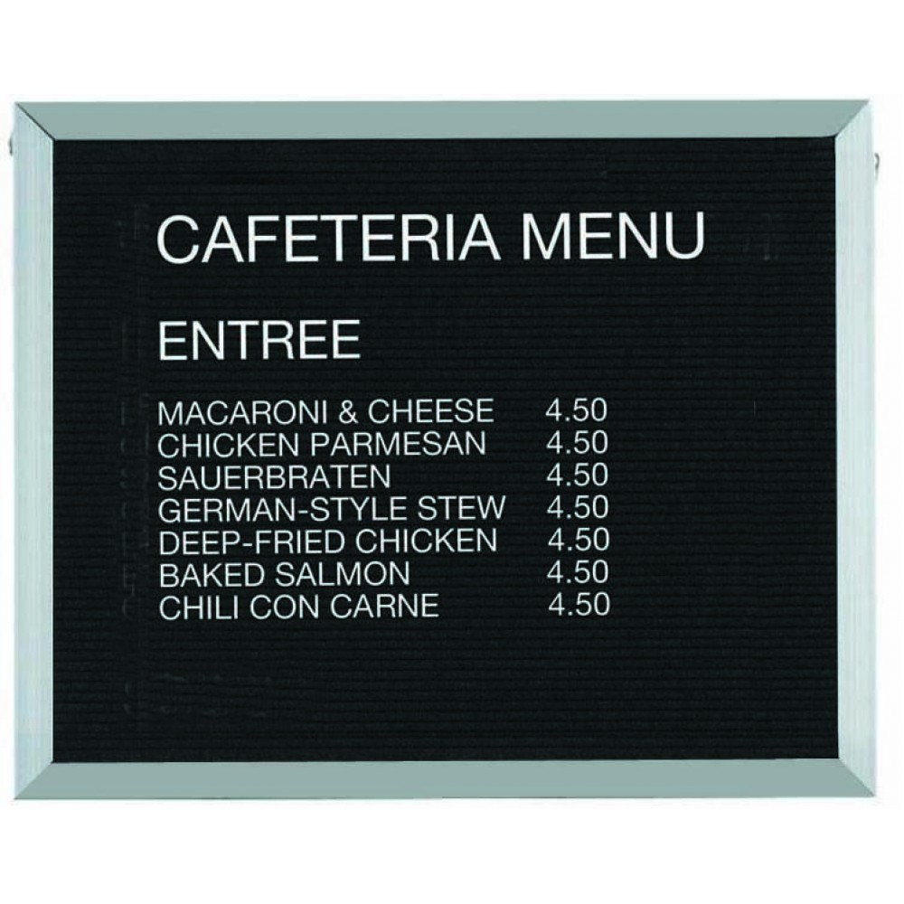 Open Face Aluminum & Felt Changeable Letter Board - 24