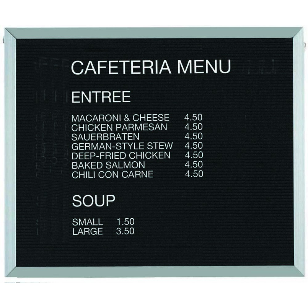 """Aarco Products BOFD3036 Framed Letter Board Message Center with Aluminum Frame, 30""""H x 36""""W"""