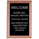 "Aarco Products AOFD1812 Framed Letter Board Message Center with Oak Frame, 18""H x 12""W"
