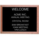 "Aarco Products AOFD1824 Framed Letter Board Message Center with Oak Frame, 18""H x 24""W"