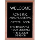 "Aarco Products AOFD2418 Framed Letter Board Message Center with Oak Frame, 24""H x 18""W"