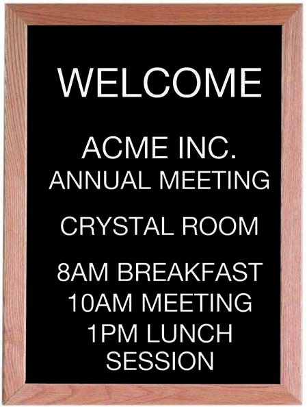 """Aarco Products AOFD2418 Framed Letter Board Message Center with Oak Frame, 24""""H x 18""""W"""