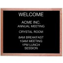 """Aarco Products AOFD2430 Framed Letter Board Message Center with Oak Frame, 30""""W x 24""""H"""