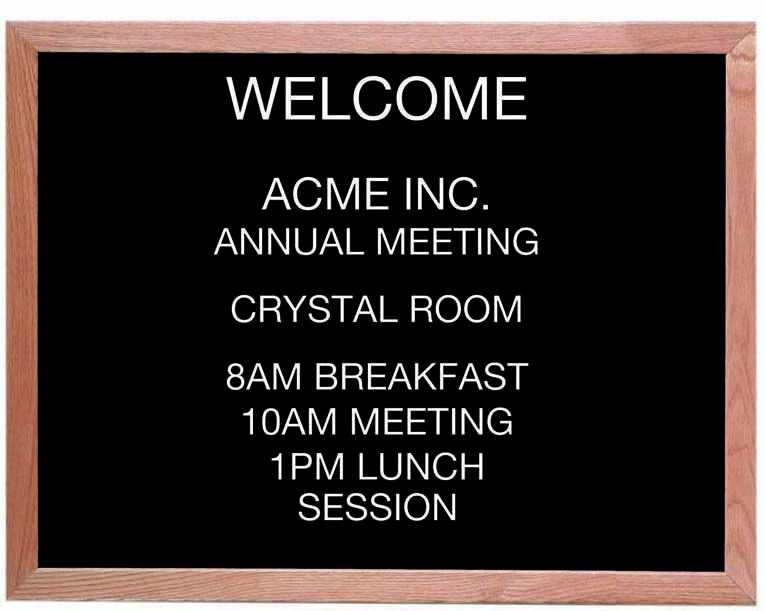"Aarco Products AOFD2430 Framed Letter Board Message Center with Oak Frame, 30""W x 24""H"