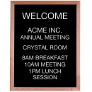 """Aarco Products AOFD3024 Framed Letter Board Message Center with Oak Frame, 24""""W x 30""""H"""