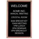 "Aarco Products AOFD3624 Framed Letter Board Message Center with Oak Frame, 36""H x 24""W"
