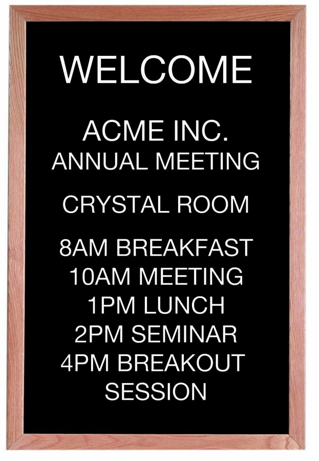 "Aarco Products AOFD3624 Framed Letter Board Message Center with Oak Frame, 24""W x 36""H"