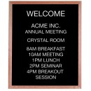 """Aarco Products AOFD3630 Framed Letter Board Message Center with Oak Frame, 30""""W x 36""""H"""