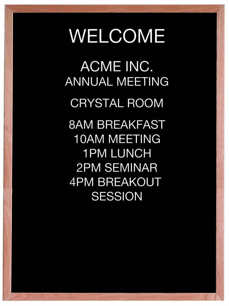 "Aarco Products AOFD4836 Framed Letter Board Message Center with Oak Frame, 36""W x 48""H"