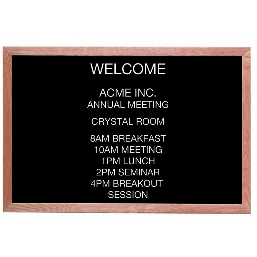 Open Face Wood & Felt Changeable Letter Board - 24